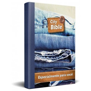 Portuguese New Testament Bible Jeans Cover